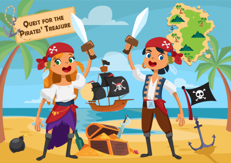 pirate scavanger hunt for kids