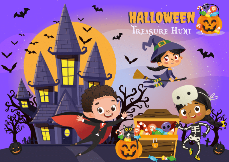 printable halloween treasure hunt for kids