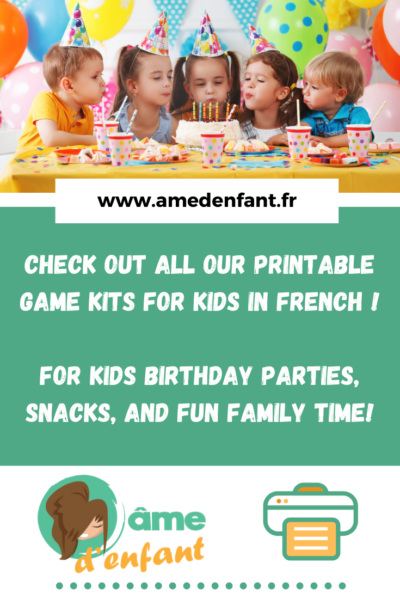 printable game set for kids in french